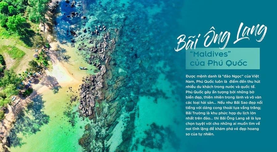 bãi biển ông lang được ví như maldives phú quốc