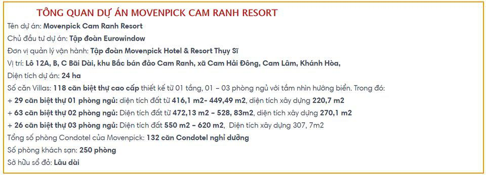 Movenpick Hotels & Resorts Cam Ranh