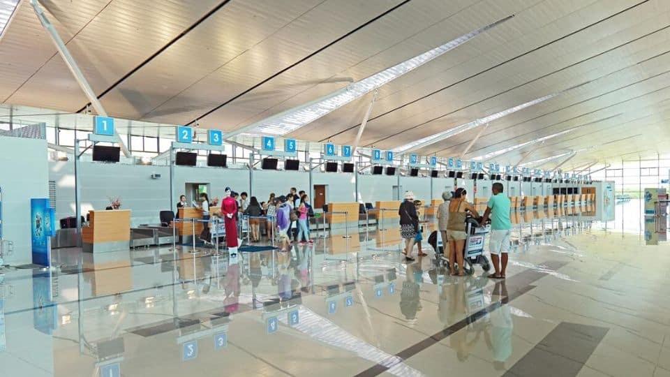 Quầy checkin nhà ga sân bay phú quốc