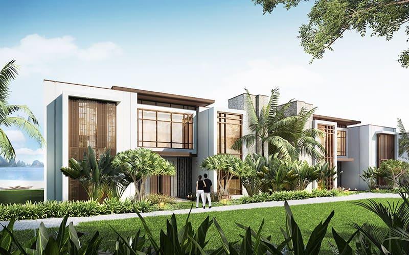 Khu biệt thự villa Intercontinental Residences Ha Long khung cảnh không gian biển xanh