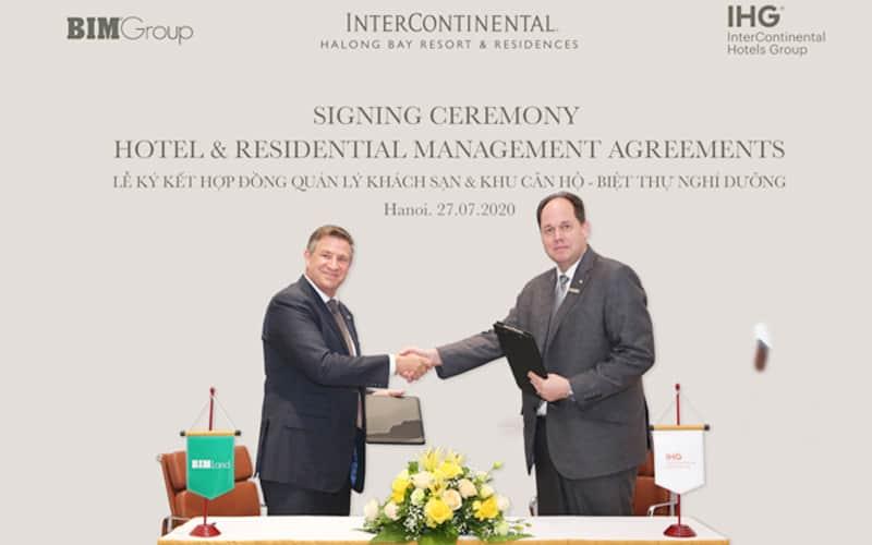 Lễ kí kết hợp đồng Intercontinental Residences Ha Long