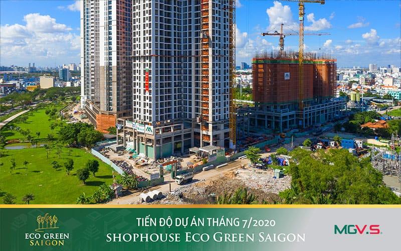 tiến độ dự án eco green saigon tháng 07 2020