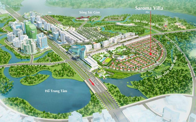 Tổng quan dự án biệt thự Sala Quận 2