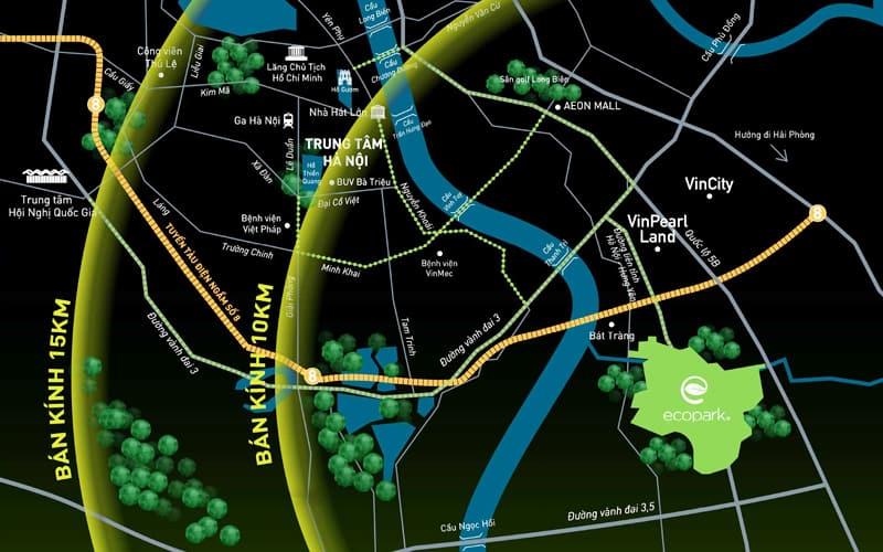 Vị trí dự án Ecopark