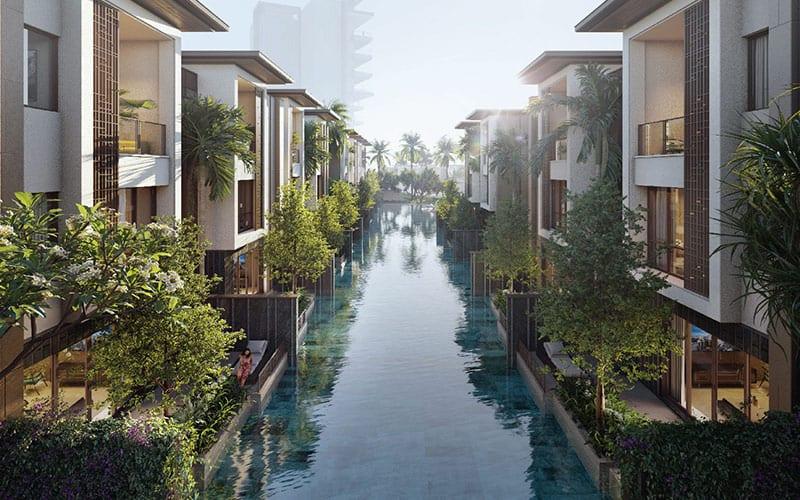 Mẫu Cảnh quan Row Villa InterContinental Residences Ha Long Bay.