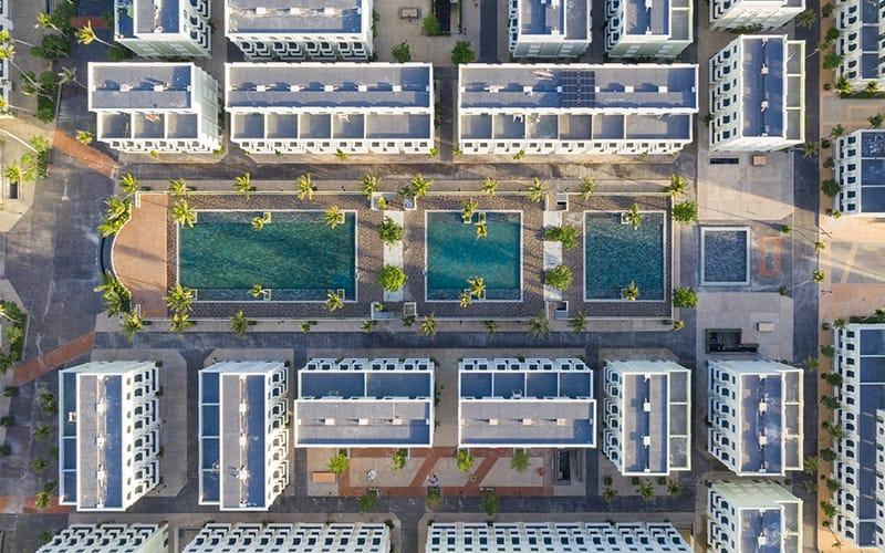 Hồ Bơi Nội Khu WaterFront Phú Quốc nhìn từ trên không